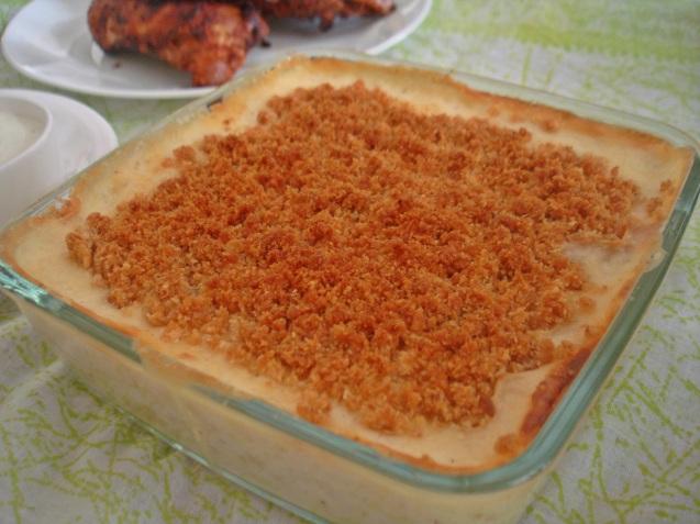 plated potato bake