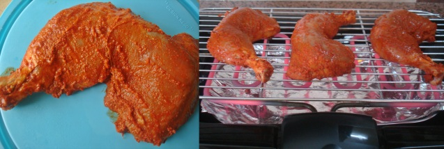 grilling spicy chix