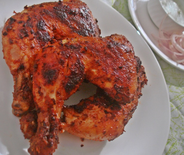 plated grilled spicy chix
