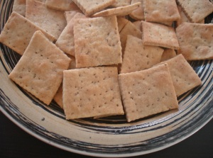 plated carom wheat crackers