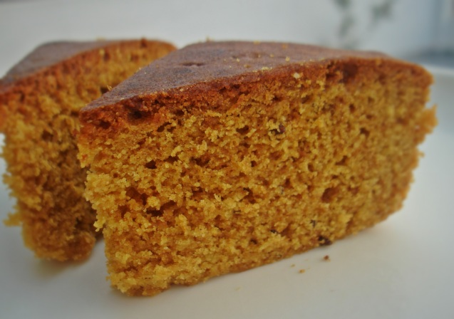 plated spice cake