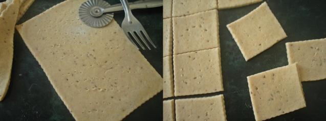 rolling cracker dough