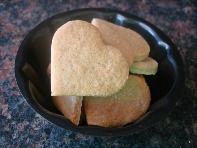 plated baked biscuits