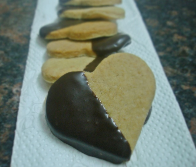 plated choclate dipped biscuits