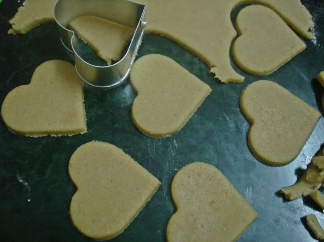 rolled heart biscuits