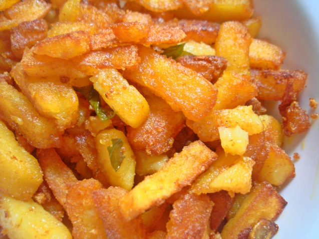main pic- crispy fired potatoes